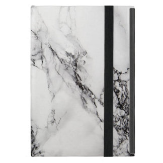 White Carrara Marble Ipad Mini Case