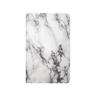 White Carrara Marble Notebook Journal