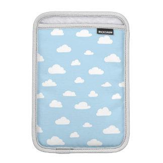 White Cartoon Clouds on Blue Background Pattern iPad Mini Sleeve