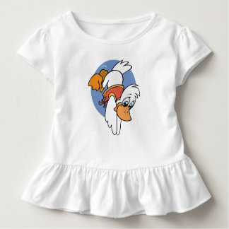 White cartoon duck diving in the water toddler T-Shirt