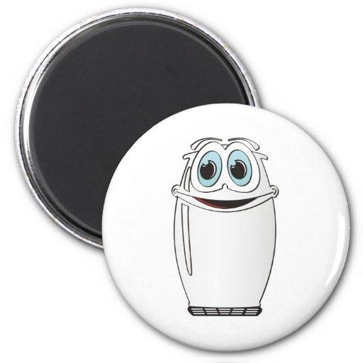 White Cartoon Refrigerator Fridge Magnets