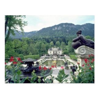 White Castle Linderhof flowers Postcard