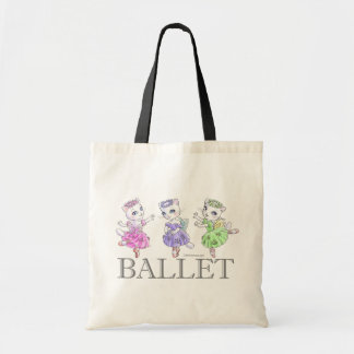 White cat ballerina bag
