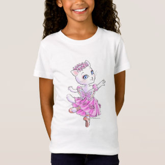White cat barerinagaruzubebidoru T-Shirt