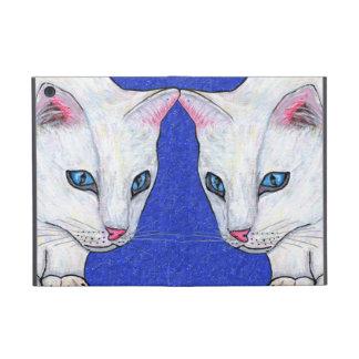 White Cat Blue Eyes iPad Mini Cover