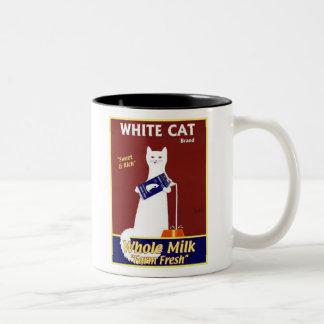 White Cat Brand Whole Milk Mugs