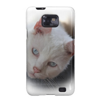 White Cat Samsung Galaxy SII Covers