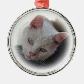 White Cat Christmas Ornament