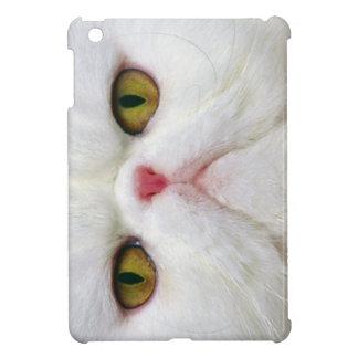 White Cat Face iPad Mini Cases