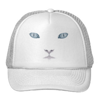 White Cat Face Trucker Hat
