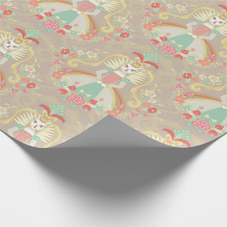 White Cat Fairy tale Wrapping paper