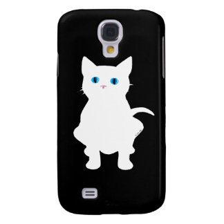 White cat galaxy s4 cases