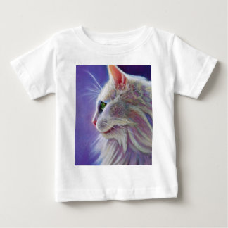 White Cat in Profile Baby T-Shirt
