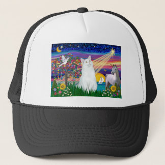 White Cat - Magical Night Trucker Hat