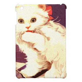 White Cat Miss Priss iPad Mini Covers