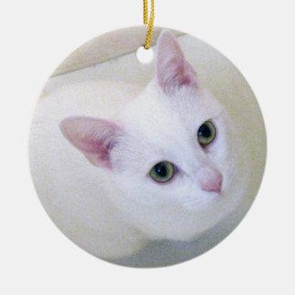 White Cat Ornament