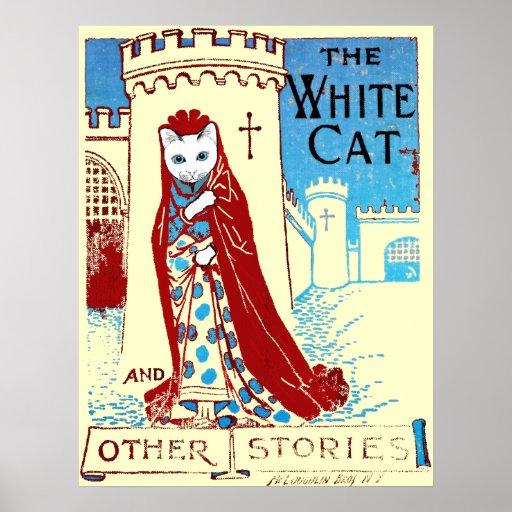 White Cat Print