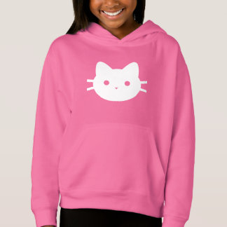 White Cat Pullover Hoodie