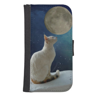 White Cat Samsung Galaxy S4 Wallet Case