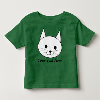 White Cat Toddler T-Shirt