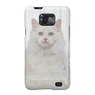 White Cat with Feathers Galaxy S2 Cases