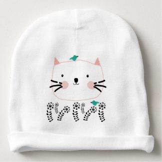 White Cat's Garden Baby Beanie