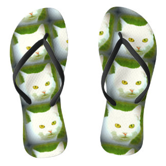 White cats thongs