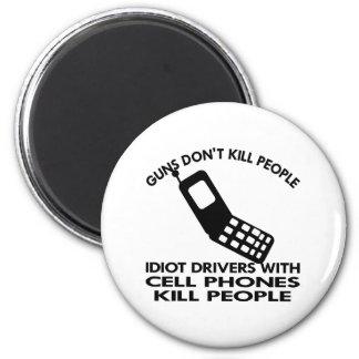 White Cell Phones Kill People Fridge Magnet