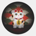 White Ceramic Maneki Neko Sticker