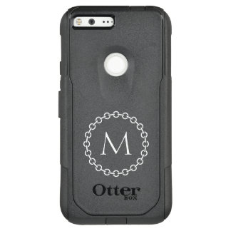White Chain Link Ring Circle Monogram OtterBox Commuter Google Pixel XL Case