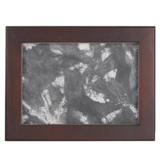 White Chalk and Black Ink Memory Box