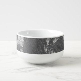 White Chalk and Black Ink Soup Mug