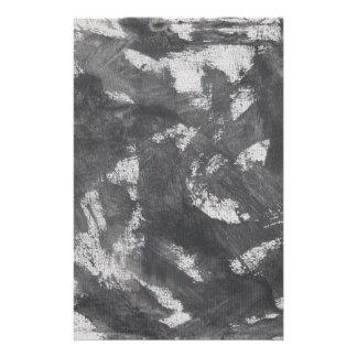 White Chalk and Black Ink Stationery