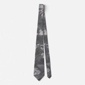 White Chalk and Black Ink Tie