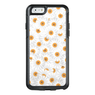 White Chamomile Flower Pattern OtterBox iPhone 6/6s Case