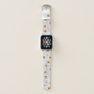 White Chamomile Flowers Apple Watch Band