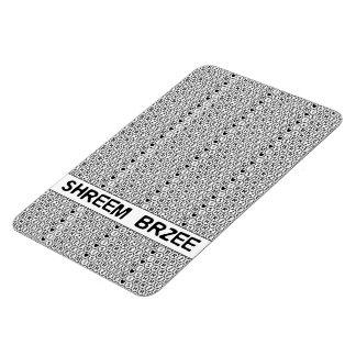 White Chant Shreem Brzee money mantra Flexible Magnet