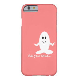 White character cartoon on pink B/G add your name Barely There iPhone 6 Case