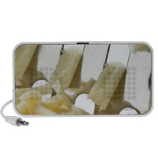 white cheese, cheddar, stainless cheese grater iPhone speaker