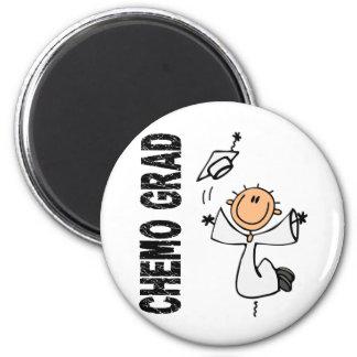 White CHEMO GRAD 1 (Bone Cancer) Fridge Magnet
