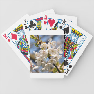 White Cherry bare OM Bicycle Playing Cards