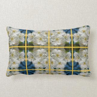 White cherry Blossoms 01.2.2.y, Spring Lumbar Cushion
