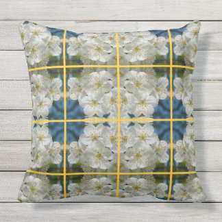 White cherry Blossoms 01.2.y, Spring Cushion
