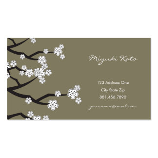 White Cherry Blossoms Sakura Spring Flowers Branch Pack Of Standard Business Cards