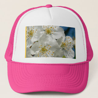 White cherry Blossoms, Spring Trucker Hat