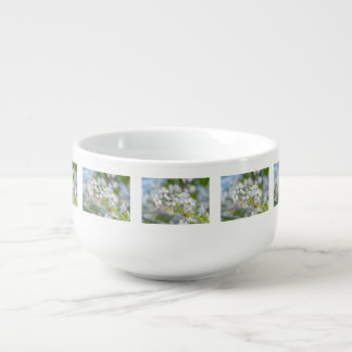 White Cherry Flower Soup Mug