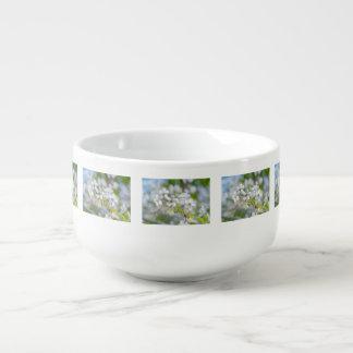 White Cherry Flower Soup Mug