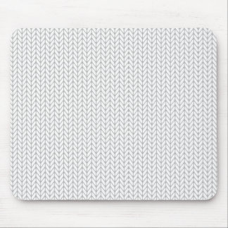 White Chevron Arrows Mouse Pad