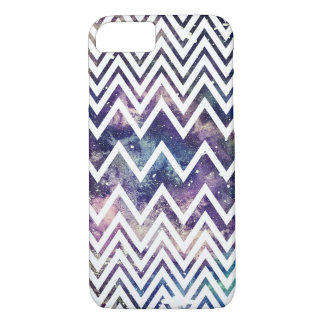 White Chevron Nebula Phone Case