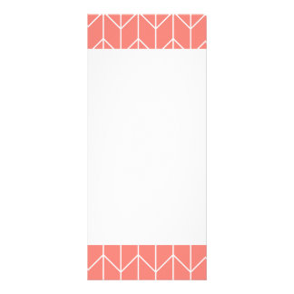White Chevron on Coral Pink Modern Chic Rack Card Template
